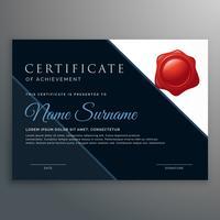 certificado moderno de design de conquista