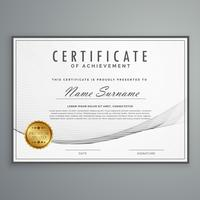 clean certificate design template in vector