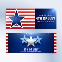 bannières de la fête de l'indépendance américaine