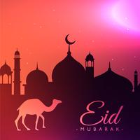 beautiful eid festival greeting background