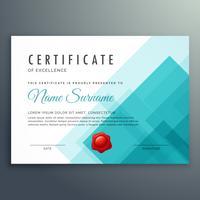 plantilla de certificado de excelencia