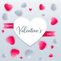 schöne Herzen Hintergrund Valentinstag Gruß