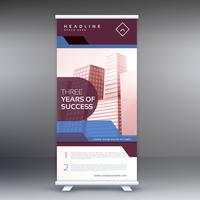business roll up banner vector design background