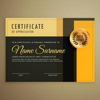 modelo de vetor de design de certificado premium