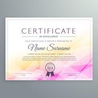 certificado de diploma abstracto de diseño