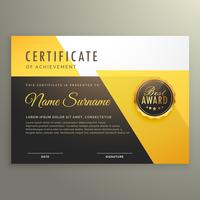 modern certificate template with clean geometric shapes vector