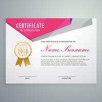 abstract geometric certificate template design