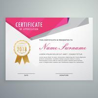 diseño de plantilla de certificado geométrico abstracto