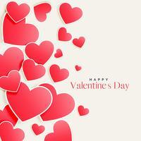 schönes Rosa zerstreute Herzen Valentinstaghintergrund