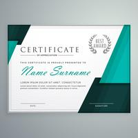 modern certificaatontwerp met abstracte geometrische vormen