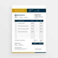 Vektor sauber Rechnung Vorlage Design