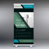 geometric standee banner roll up design