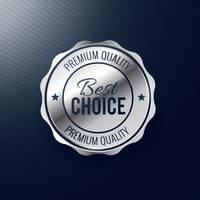bästa valget silver etikett design