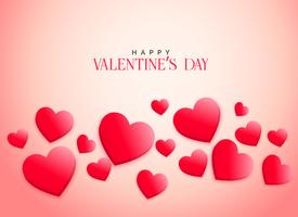 creative pink 3d hearts background for valentine's day
