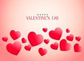 creatieve roze 3d harten achtergrond voor Valentijnsdag