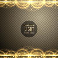 abstraktes goldenes Licht transparenter Effekthintergrund
