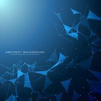 fundo digital de tecnologia azul com formas de triângulo