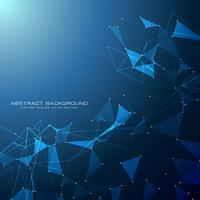 blauwe technologie digitale achtergrond met driehoekige vormen