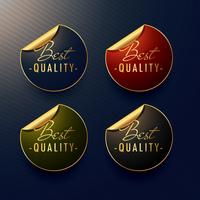 Autocollants dorés de la meilleure qualité avec une boucle de page