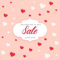 Fondo de diseño de cartel de venta de San Valentín