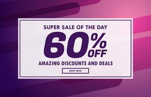 försäljning banner kupong mall vektor design med erbjudanden detaljer