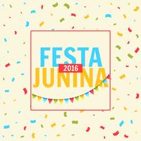 festa junina celebration with confetti