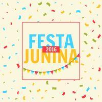 festa junina feier mit konfetti