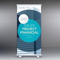modern standee display design roll up banner template