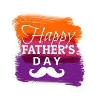 glücklicher Vatertag mit bunten Malstrichen