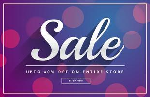 bokeh försäljning kupong mall design vektor
