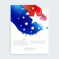 american 4th of july flyer design