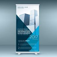 modello di modello banner mockup display roll up blu