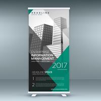 business modern roll up banner template presentation