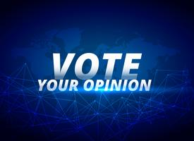 vote your opinion vector blue background