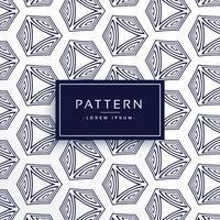 Fondo geométrico patrón de línea hexagonal