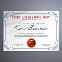 modello di progettazione del certificato con bordo decorativo