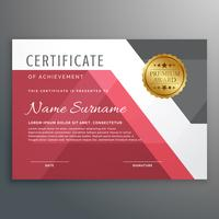 Elegante plantilla de certificado con formas geométricas.