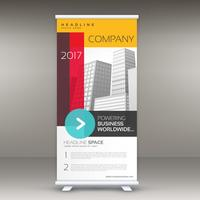 company colorful roll up banner template for advertising