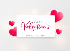 valentine's day beautiful greeting design with pink hearts