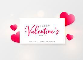 Valentijnsdag mooie groet ontwerp met roze harten