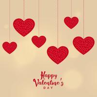 lycklig valentins dag hängande hjärtan bakgrund