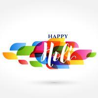 elegante feliz holi indiano festival banner design