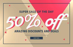 abstract sale voucher banner design template
