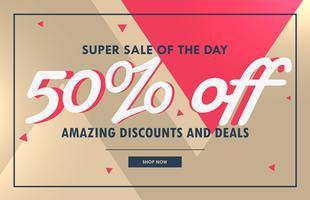 abstrakt försäljning kupong banner design mall