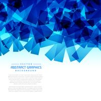 abstract blue shapes background graphic
