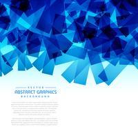 graphique de fond abstrait formes bleu