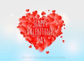 kreativ valentins dag kortdesign affisch