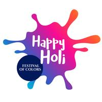coloful splash for happy holi