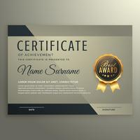 plantilla de diseño de certificado vip premium