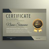 vip premium certificate design template